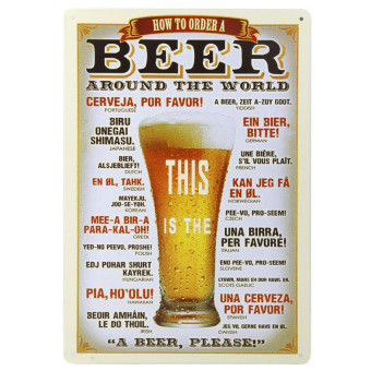 20x30cm Vintage Metal Tin Sign Plaque Wall Art Poster Cafe Bar PubBee