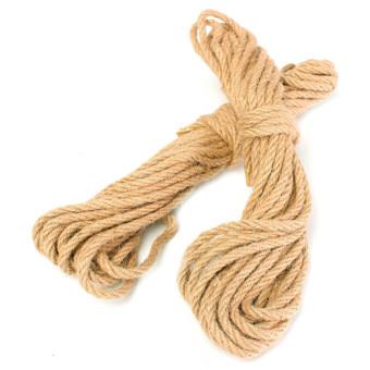 2pcs 10m twisted burlap jute twine rope thick natural hemp cord sisal rope 6mm - Sisal Rope