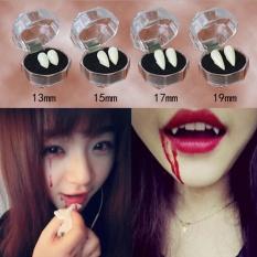 2Pcs Bloodcurdling Vampire Werewolves Fangs Fake Dentures Teeth Costume Halloween 19mm - intl