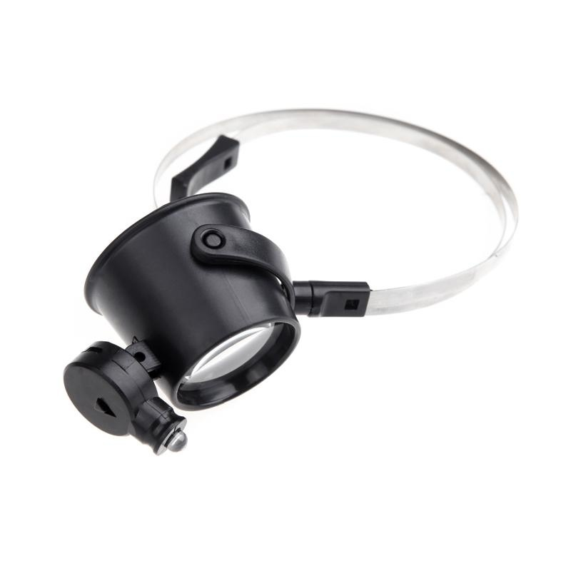 30mm 15x LED Eye-Clamp-Free Magnifier Loupe Magnifying Glass Watch Repair - intl