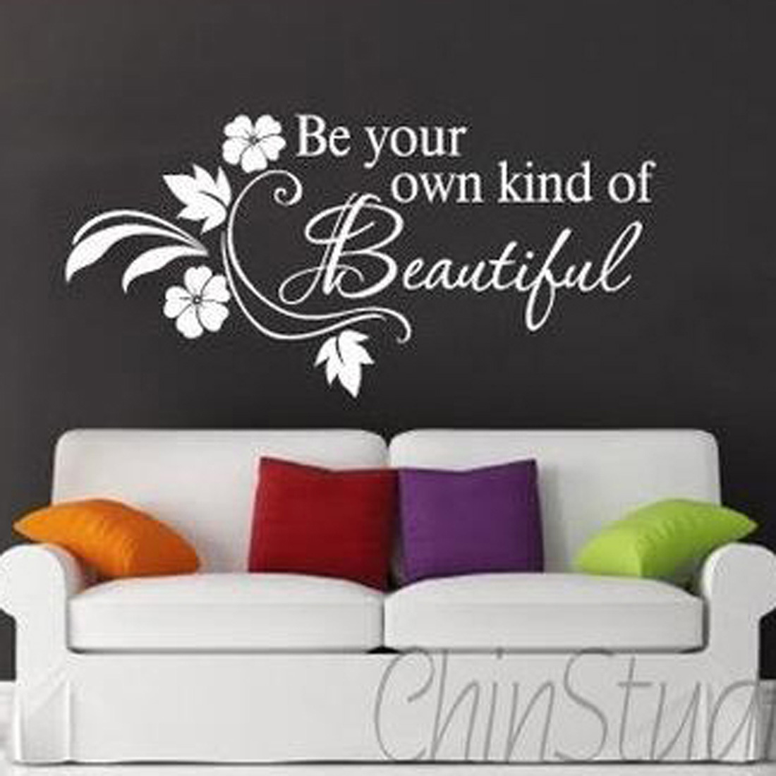 "Be Your Own Kind Of Beautiful Wall Art 360dsc zooyoo ""be your own kind of beautiful"" english quote flower"