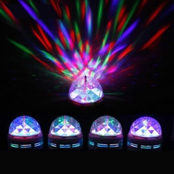 3W Convenient Rotating LED Stage Light Bulb For Club DJ Disco Xmas Party - intl