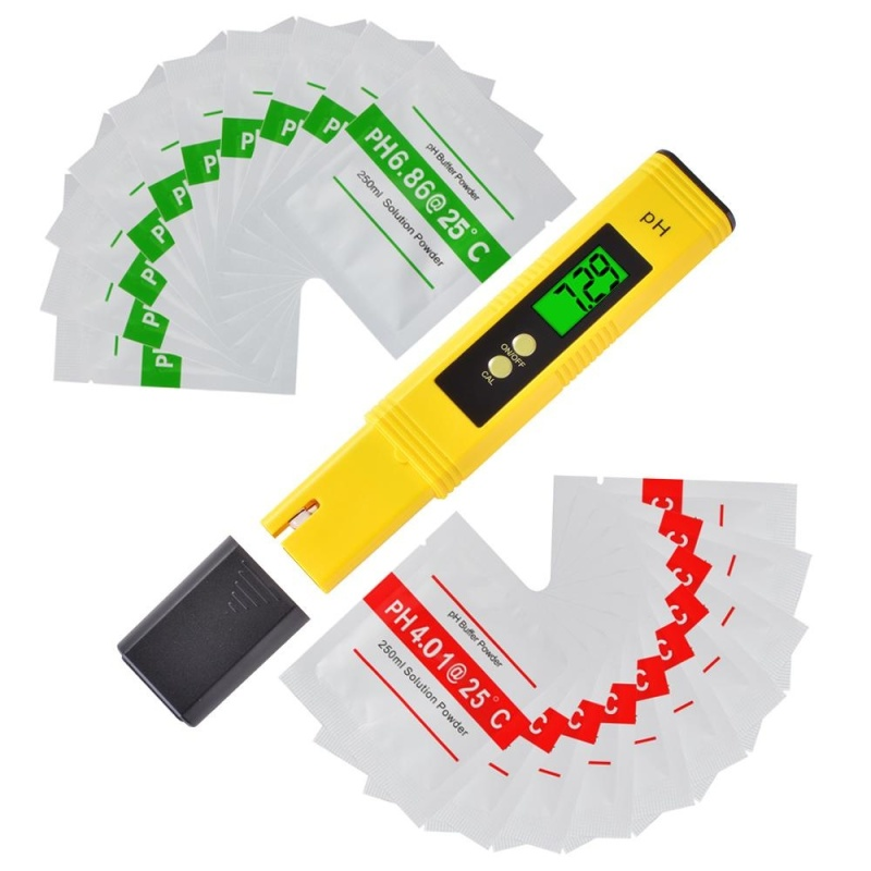 4-Digit LCD PH Meter Pen Portable Hydroponics Aquarium Pool Water Tester BI750 - intl