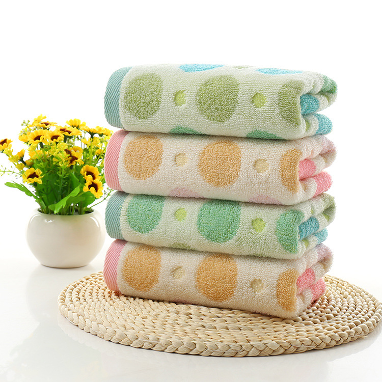 [4 strip dress] yarn-dyed dot children wash soft absorbent hometowel factory direct special wholesale