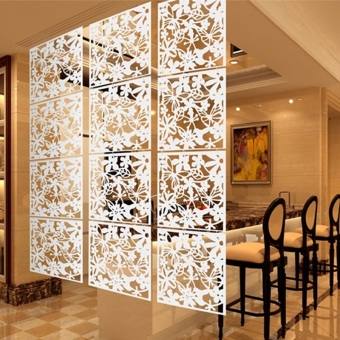 Partition Divider 4pcs hanging screen partition room divider butterfly flower wall