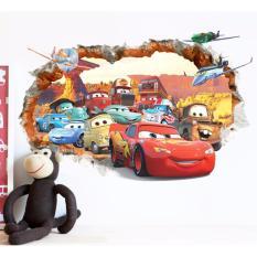 50 70cm Wall Stickers 3d Car Cartoon Mural Painting Boys Room