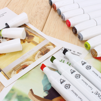 80 Colors Sets Touch Five Alcohol Graphic Art Twin Tip Pen Markers Broad Fine Point(Picea meyeri) - intl - 5