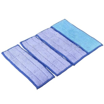 Ac Blue 4Pcs Washable Wet Mopping Pads Replacment Damp &Amp;Dryfor Irobot Braava Jet 240 - intl