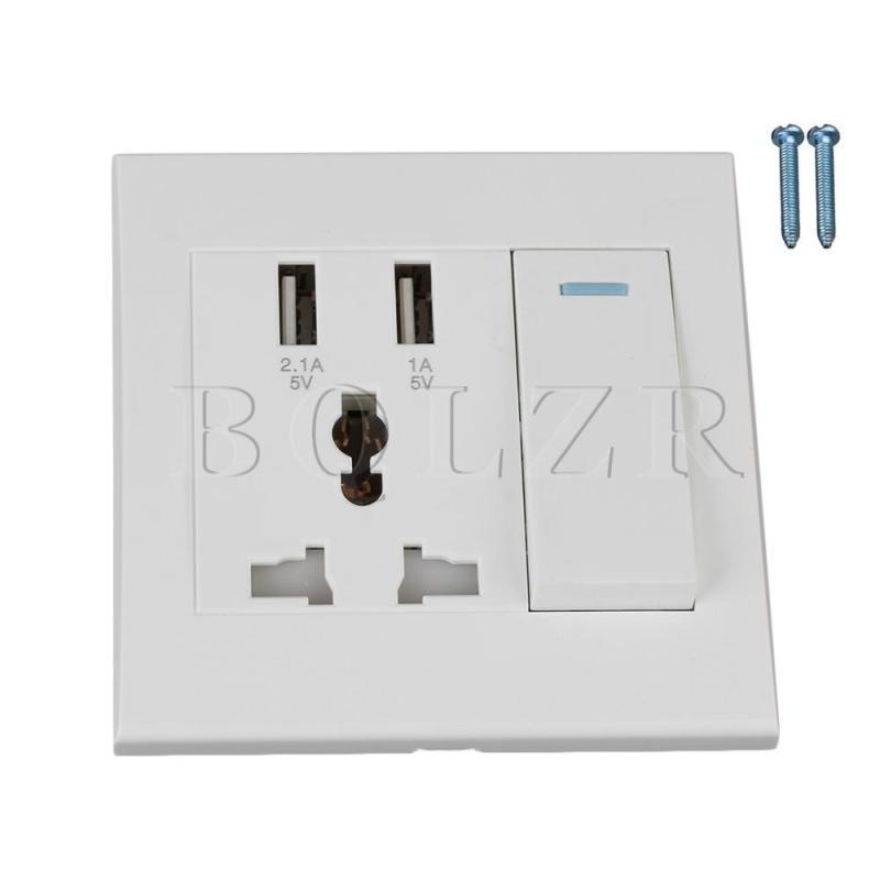 AC110-250V Switch Wall Socket with 3 Hole Wall Outlet