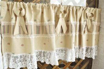 American country fruit kitchen curtain lace small half-curtain finished custom half-curtain coffee curtain fabric - 2