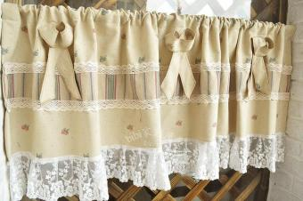 American country fruit kitchen curtain lace small half-curtain finished custom half-curtain coffee curtain fabric