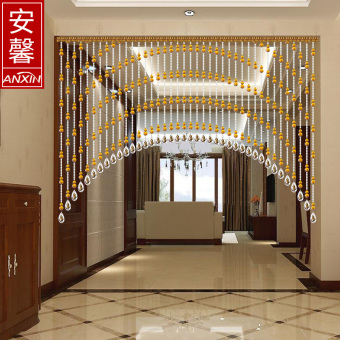 An Xin gourd bead curtain feng shui curtain crystal partitioncurtain door bedroom bathroom kitchen entrance living room
