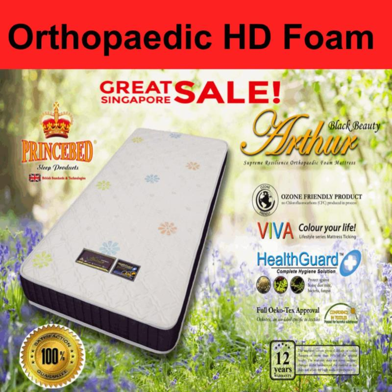Arthur Black Beauty Supreme Resilience Orthopaedic High Density Single 6 inch Foam Mattress