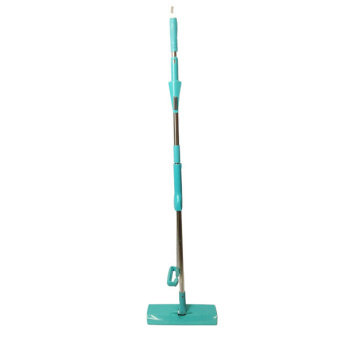Auto Squeeze Dry Microfiber Mop (include 2 Pads) - Blue