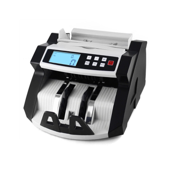 Automatic Multi-Currency Cash Banknote Money Bill Counter Counting Machine LCD Display with UV MG Counterfeit Detector for EURO US Dollar AUD Pound AU (White) - intl