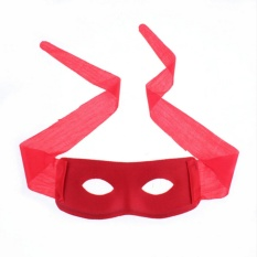 Bandit Zorro Masked Man Eye Mask for Theme Party Masquerade Costume Halloween Red - intl
