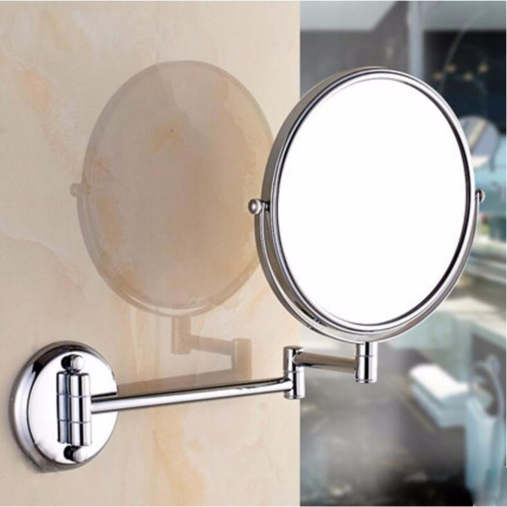 Bathroom Mirror Magnification Double Sided 8 Inch Wall Mounted Vanity Magnifying Swivel Extendable And