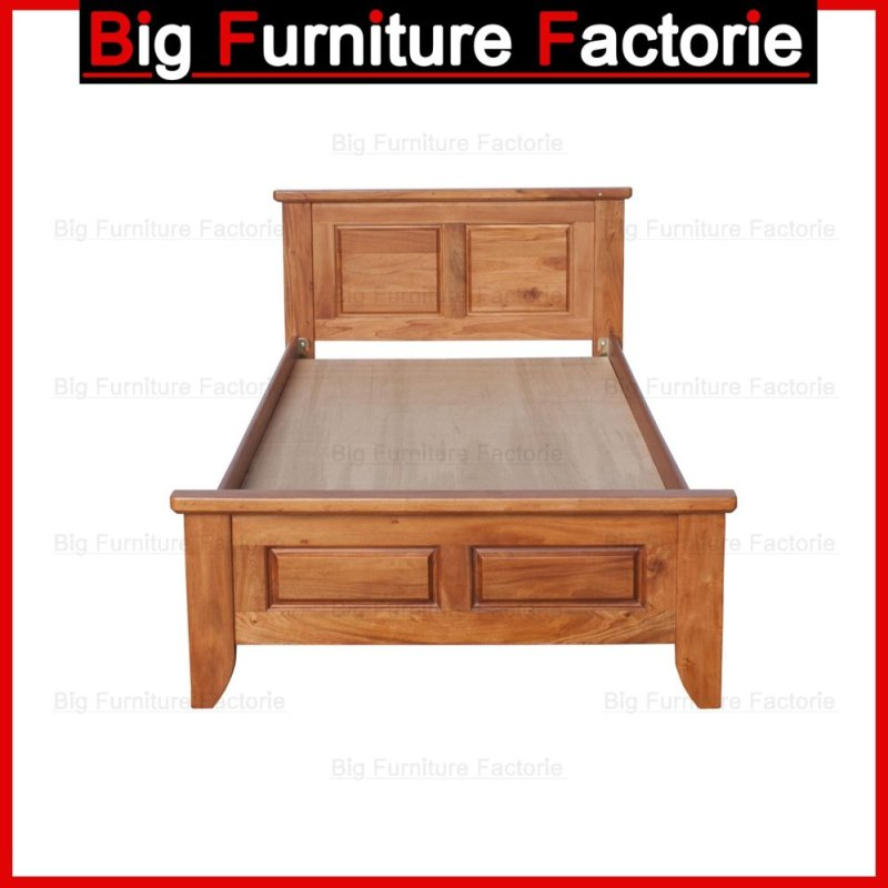 BFF48-WB Solid Wooden Bed (Walnut) - Super Single
