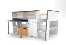 Bilrich Furniture Graffiti - Junior Combi Bed White/Grey