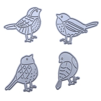 Bird DIY Metal Embroidery Puzzle Stencil Scrapbook Craft Cutting Die - intl