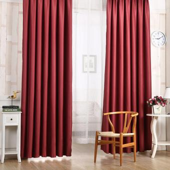 Harga Blackout Thermal Solid Window Curtai Red wine