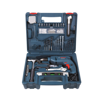 Bosch GSB 1300 XL Impact Drill Kit with 100pcs Hand Tools & Accessories