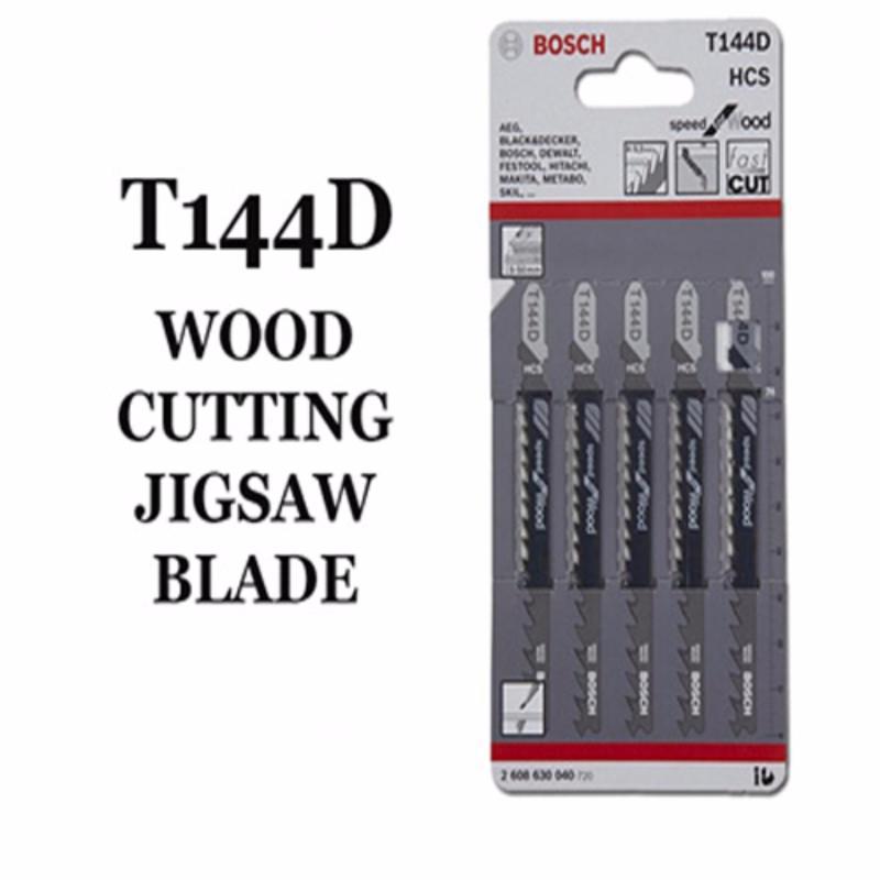 Bosch T144D Wood Cutting Jigsaw Blade (5pcs)