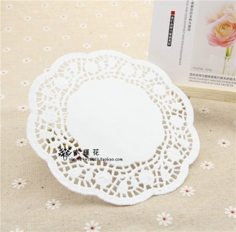 Harga Boutique 3.5/4.5/5.5-inch/6.5-inch Snowflake-shaped at the end of paper pad book the decorative paper flowers at the end Lace paper