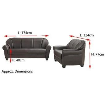 Bradford Leather Sofa 3 Seater (Dark Brown) (Free Delivery) - 3