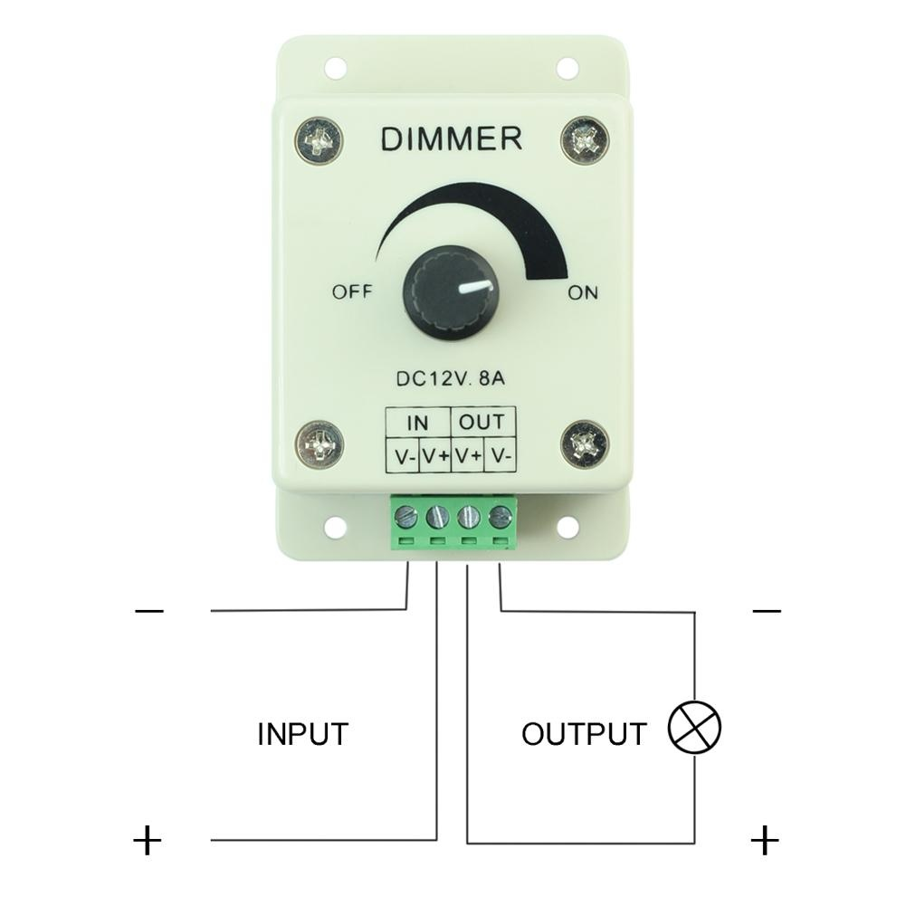 Bu New Dc 12v 8a Led Light Dimmer Adjustable Bright Brightness Controller Intl