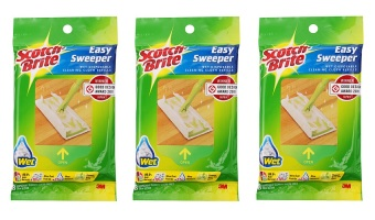 Harga [Bundle Of 3] Scotch-Brite(TM) Easy Sweeper Wet Sheets Refill