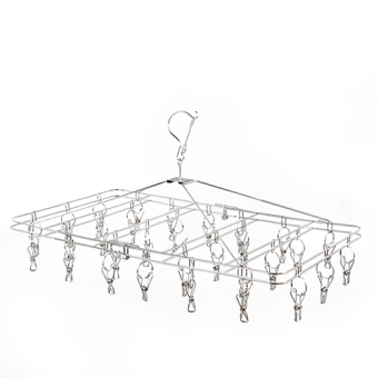 Can Be Folding 30 Clip Does Not Rust Steel Wind Hanging Clothes Rack Multi-Clip Socks Rack Baby Clothes Hanging