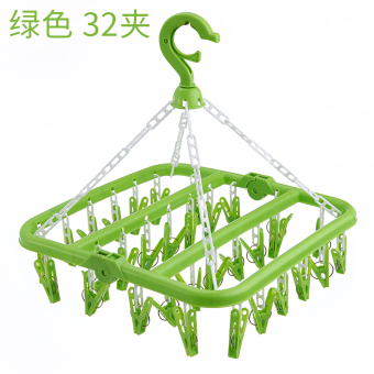 Can be folding racks 32 clip folding-drying rack socks underwearlong hanging clothes rack plastic clip windproof