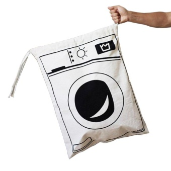 Canvas Laundry Bags Household Drawstring Organizers Storage SortingBags, Washing Machine - intl