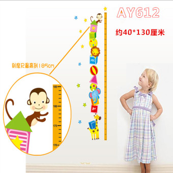 Harga Cartoon PVC living room bedroom height stickers wall adhesive paper