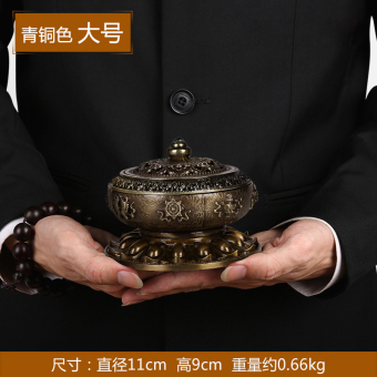 Charity eight incense burner ornaments antique incense aromatherapy furnace home incense road Buddha antique supplies 0052