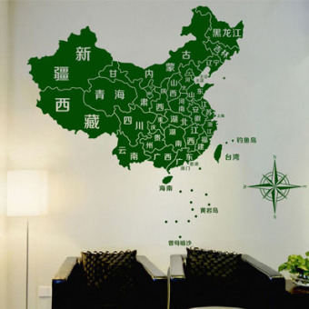China Map Office Large Living Room Bedroom Tv Background Wall Stickers  Sticker Decoration Stickers Map Part 61