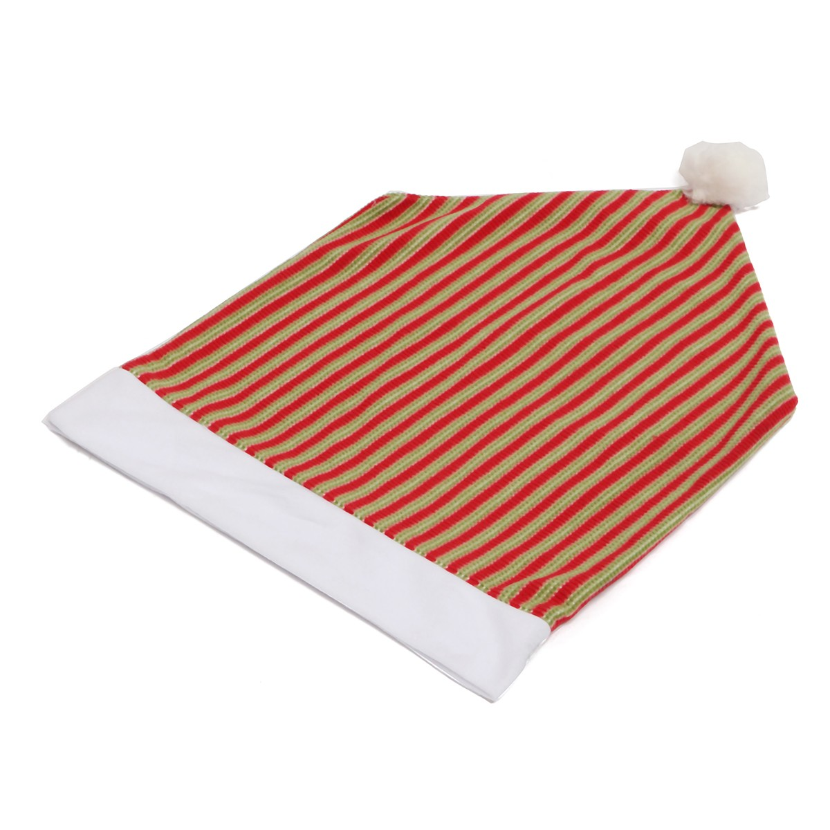 245c1a627a49e Christmas Stripe Santa Hat Chair Back Cover Xmas Party Dinner Table  Decoration