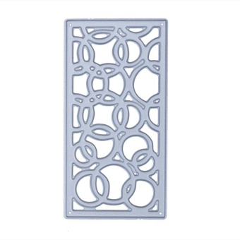 Circle Window Frame DIY Metal Stencil Scrapbook Embroidery Cutting Die - intl