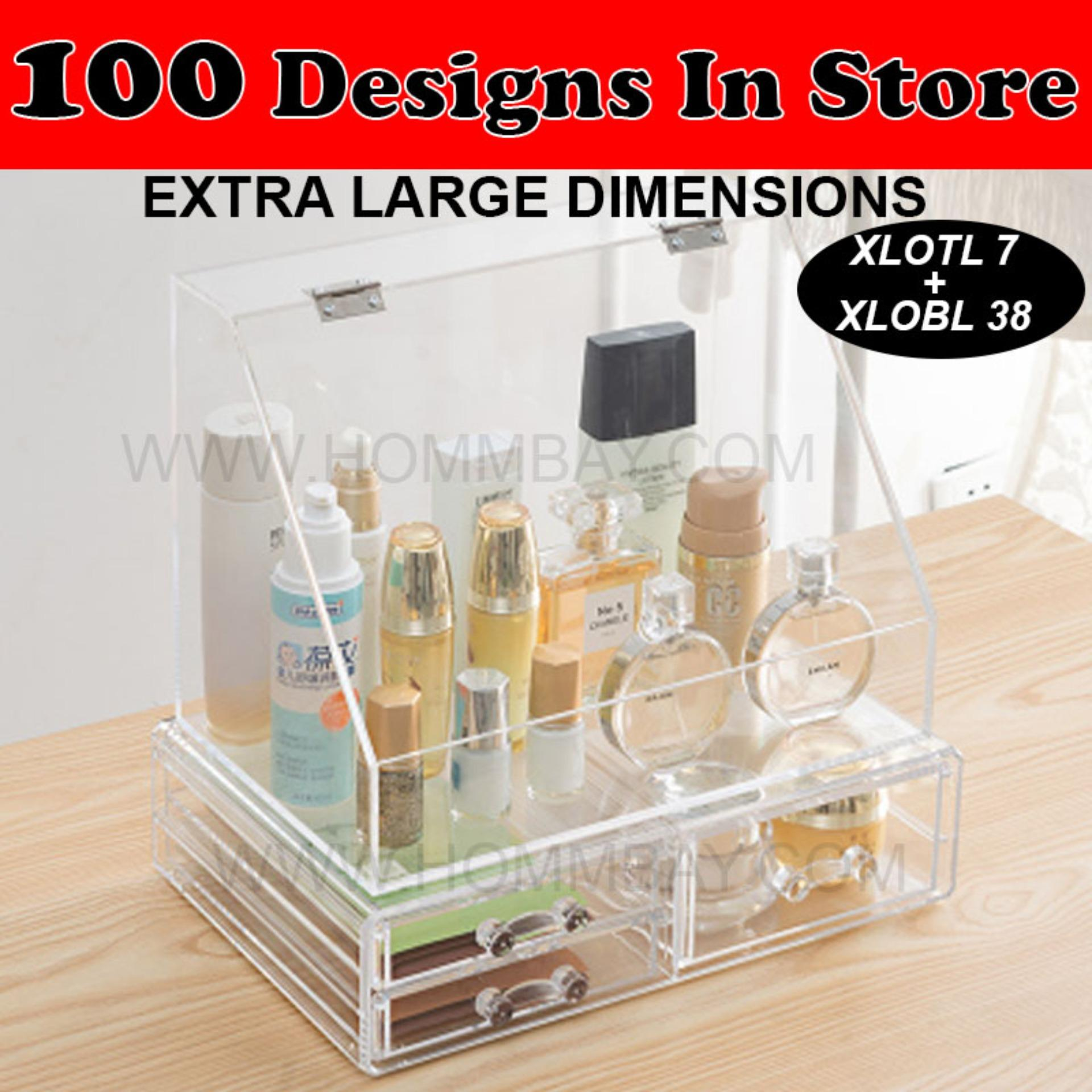 Clear Acrylic Transparent Make Up Makeup Cosmetic Jewellery Jewelry Organiser