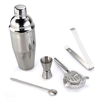 Cocktail 750ml Shaker Jigger Mixer Set 5 - 3