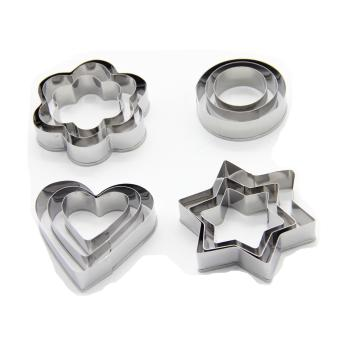 Cookie Cutter Set Stainless Steel Cake Decorating Biscuit BakingMold - intl