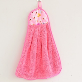 Harga Coral velvet hanging absorbent of thick hand cloth hand towel