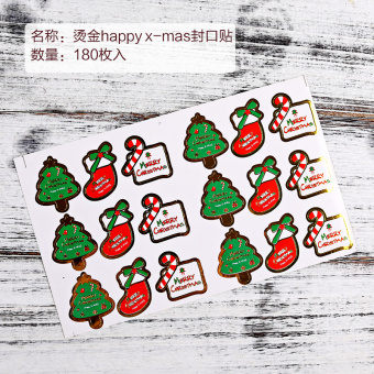 Corsage stickers Christmas decorative adhesive paper seal stickers