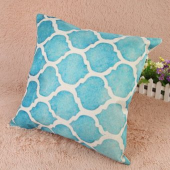 Creative Striped Pattern Cotton Pillow Cover(Blue) (EXPORT) - 3