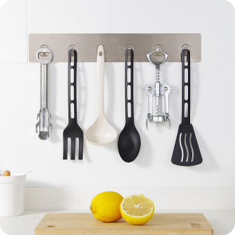 Harga Creative strong viscose kitchen wall six even stick hook