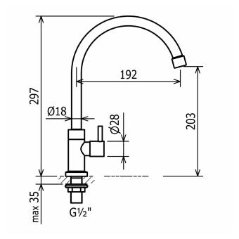 CRESTIAL Cold Sink Tap C20702 - 2