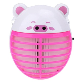 Cute Pig Shape Mosquito Lamp LED Anti Mosquito Repeller Killing(Pink) - intl