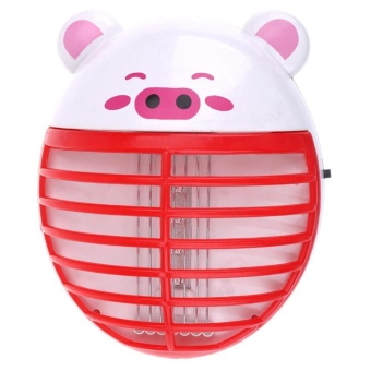 Cute Pig Shape Mosquito Lamp LED Anti Mosquito Repeller Killing(Red) - intl