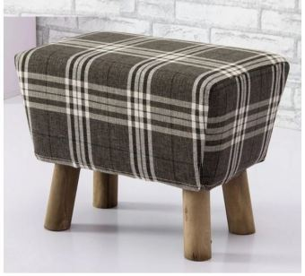 Designer Stool (Grey Checker C)